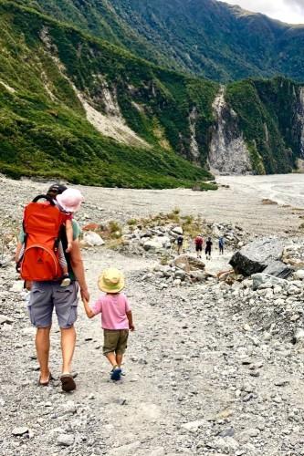Zuidereiland met kinderen
