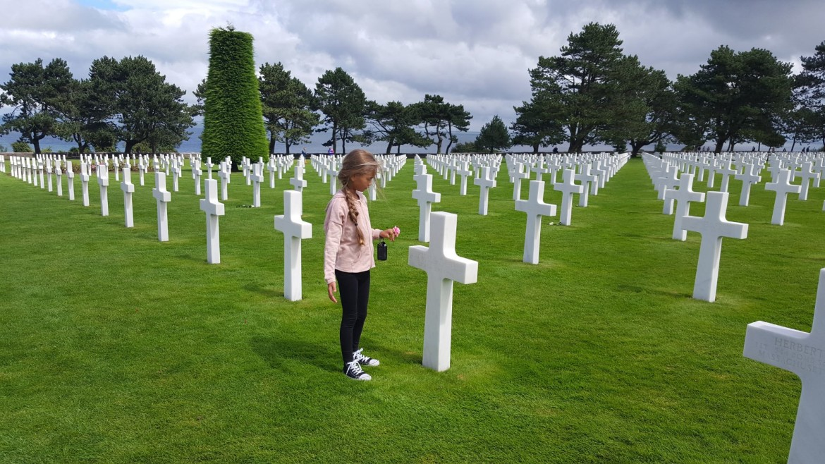 Normandy American Cemetery and Memorial met kind