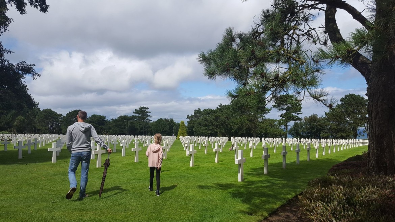 Normandy American Cemetery and Memorial met kind