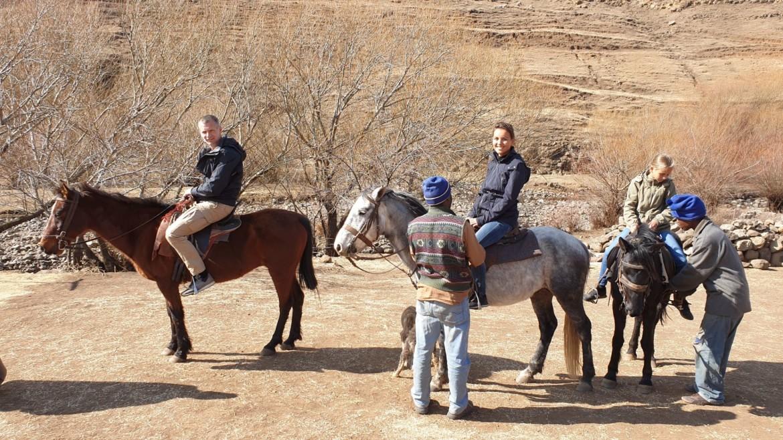 Paardrijden in Lesotho