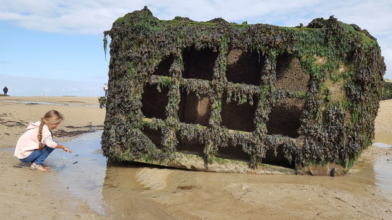 Ponton voor de kust van Arromanches