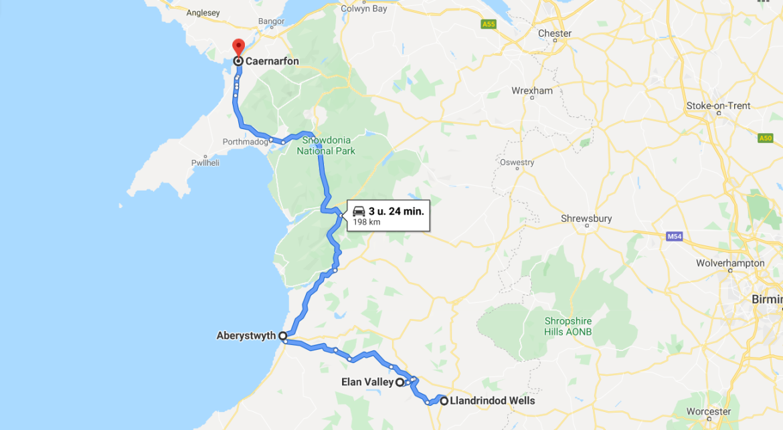 Van Elan Valley naar Snowdonia
