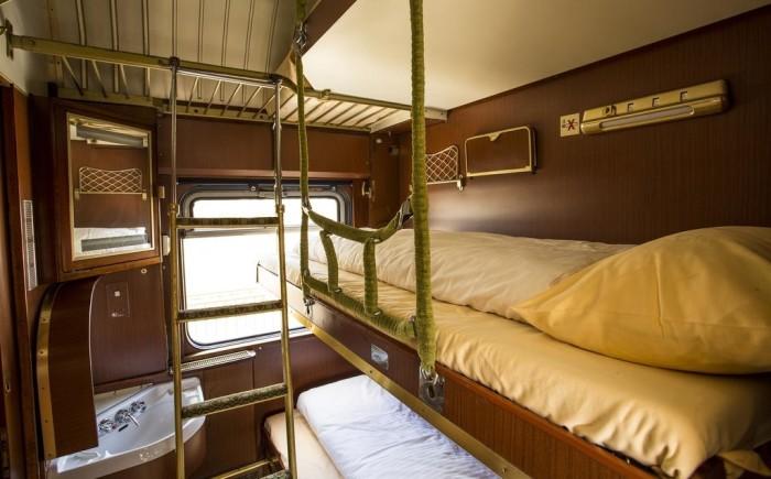 Bijzonder slapen in een trein met kinderen