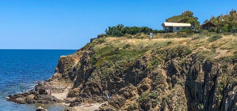 Kliffen strand Argeles-sur-mer met kinderen