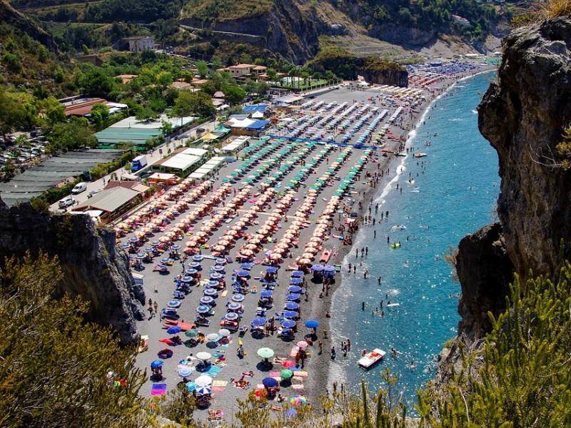 Strand Zuid-Italië met kinderen