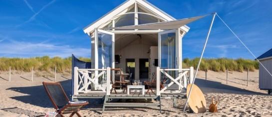 Vakantiehuisje op het strand met kinderen