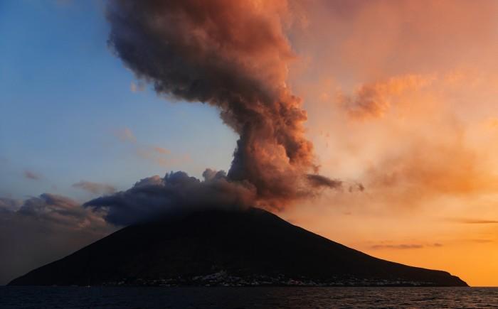 Stromboli Vulkaan Italië