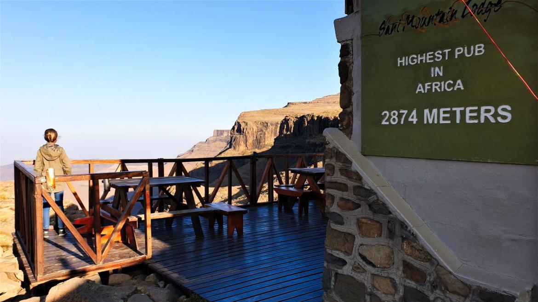 Uitzicht vanaf de hoogste pub van Afrika