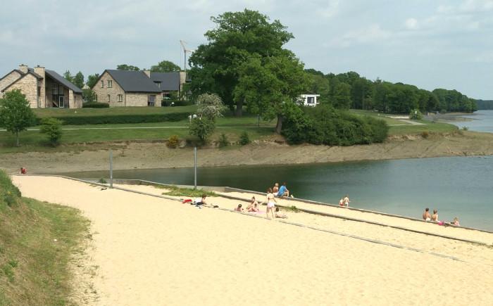 Vakantiepark met een strandje