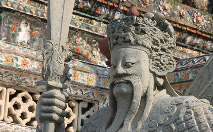 Wat Arun met een peuter