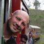 Treinen langs theeplantages Sri Lanka