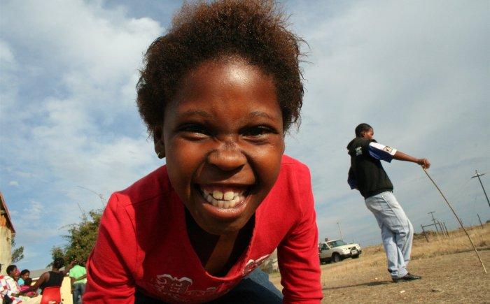 Township Zuid-Afrika met kinderen