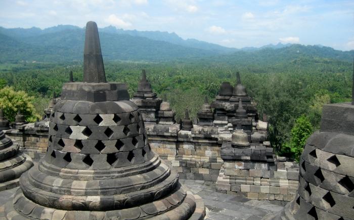 Borobudur Indonesie met kinderen
