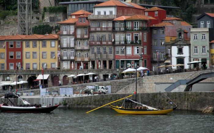De wijk Ribeira in Porto