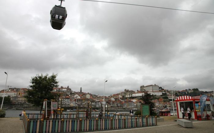 Speeltuin in Porto met kabelbaan