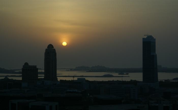 Dubai zonsondergang