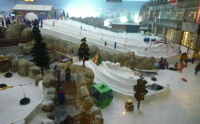 Indoor skibaan Mall of Emirates Dubai