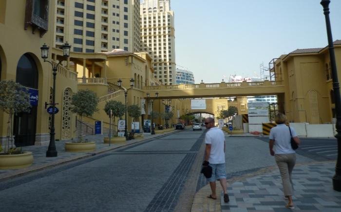 Wandelen in Dubai Marina