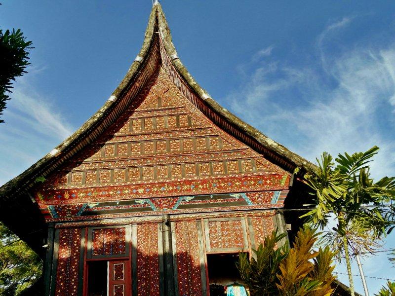 Huis in Minangkabau bouwstijl Sumatra