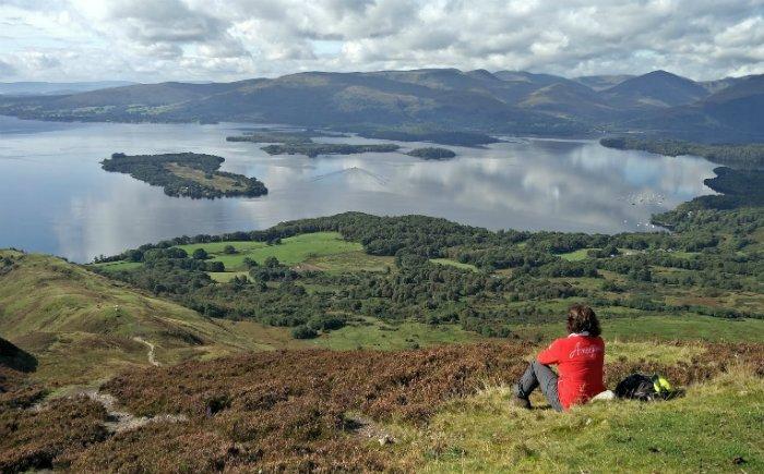 Uitzicht over de highland van Schotland