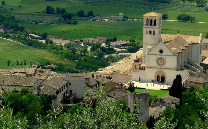 Assisi met kinderen in Italië