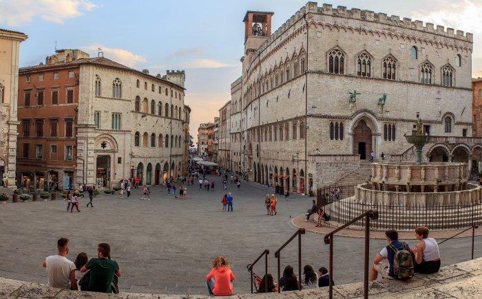 Perugia met kinderen in Italië