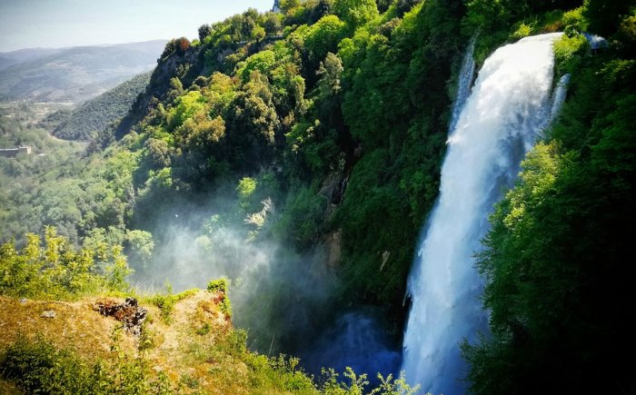 Watervallen van Marmore Umbrië met kids