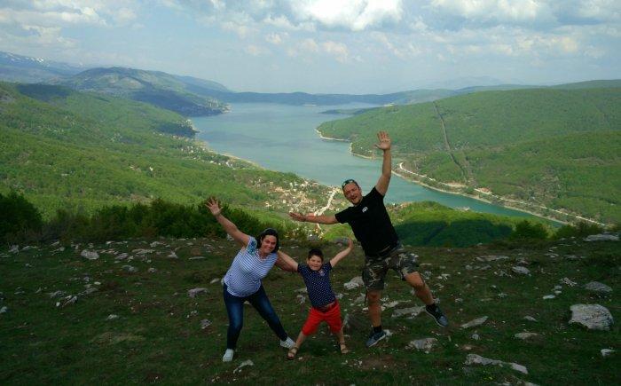 Macedonië met gezin en kind