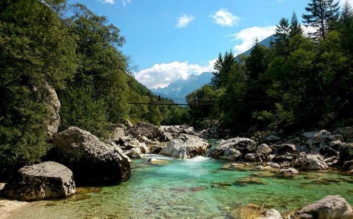 Slovenië met kinderen Soča rivier