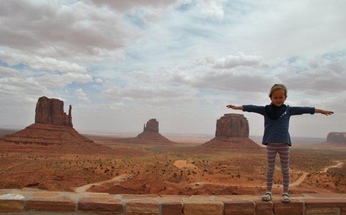 Monument Valley met gezin