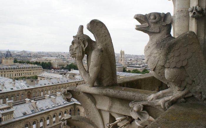 Uitzicht vanaf de Notre Dame in Parijs