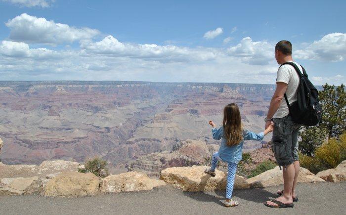 Route 66 naar Grand Canyon rijden