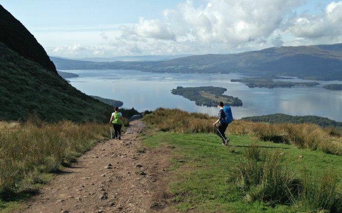 Wandelen Balmaha in de lowlands Schotland
