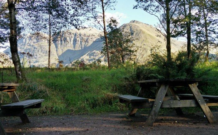 Picknicken bij Visitor Centre Glencoe Schotland