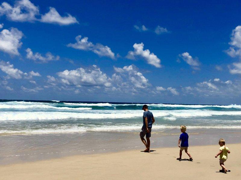 Gezin op reis in Australië