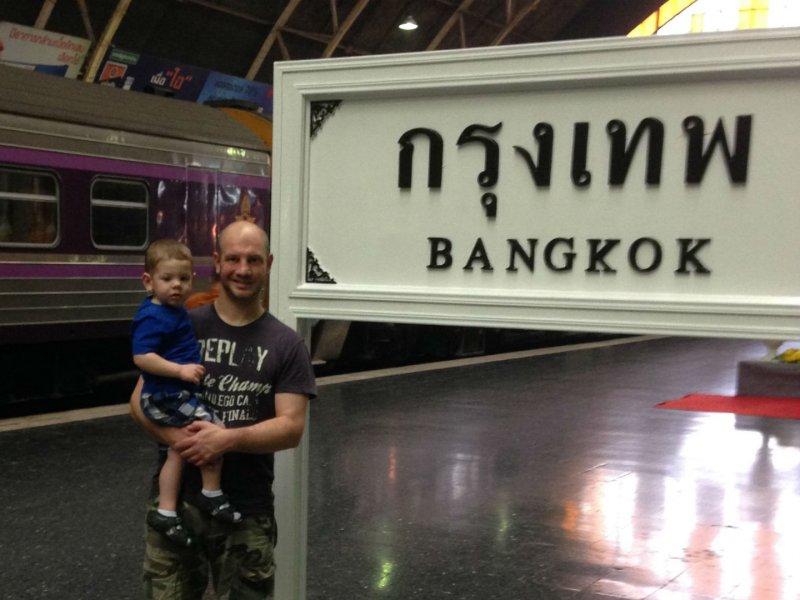 Bangkok met een peuter
