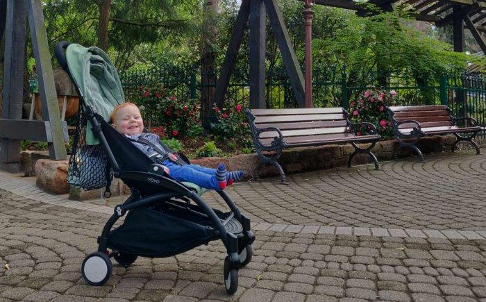 Europa-Park met een baby