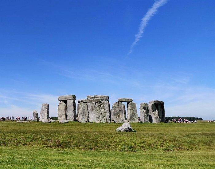 Stonehenge met kind