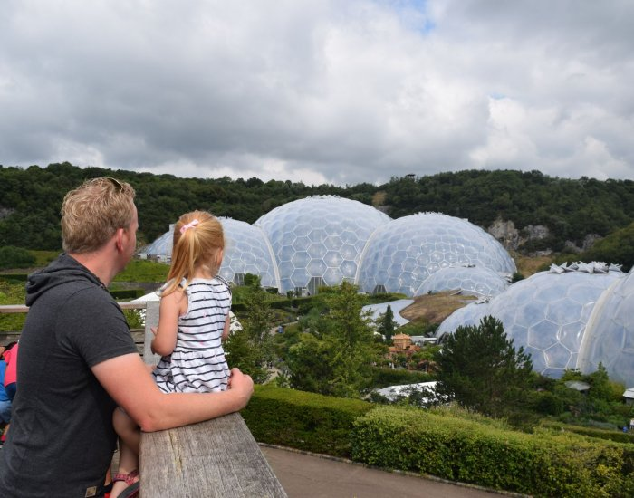Eden Project Cornwall met kind