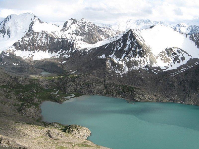 Het landschap van Kirgizië