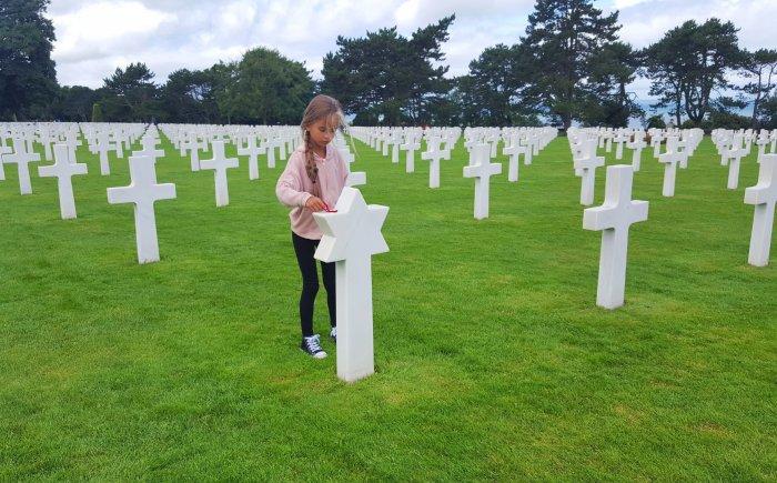 Amerikaanse militaire begraafplaats in Colleville-sur-Mer