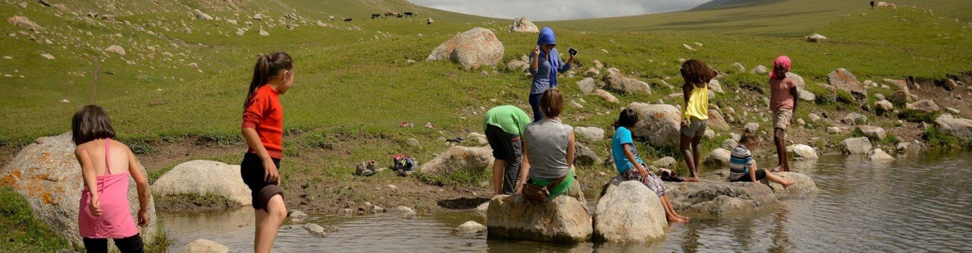 Kirgizië met kinderen