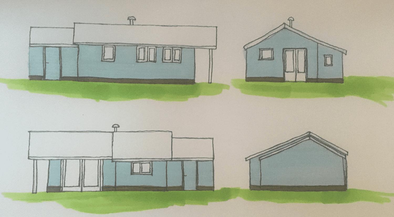 functioneel ontwerp vakantiehuisjes en tiny houses