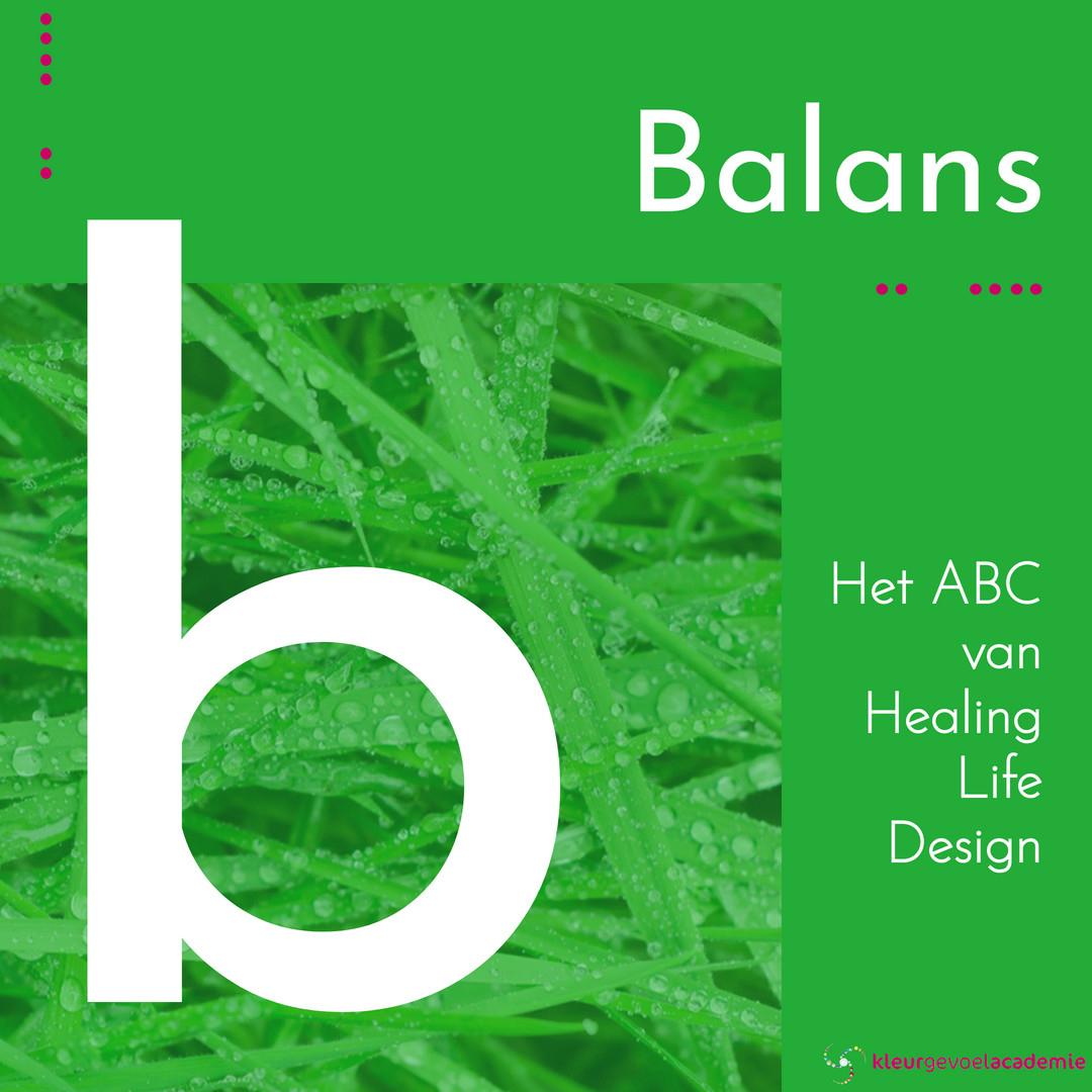 B van balans groen gras