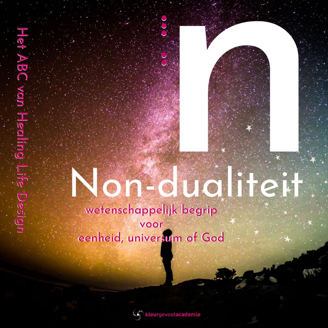 N van Non-dualiteit wetenschappelijk begrip voor eenheid, universum of God