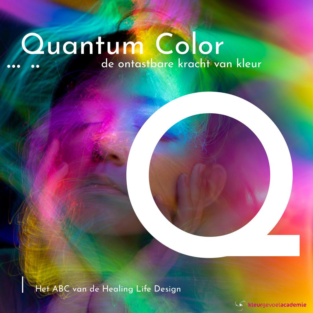 Q van Quantum Colour ontastbare kracht van kleur
