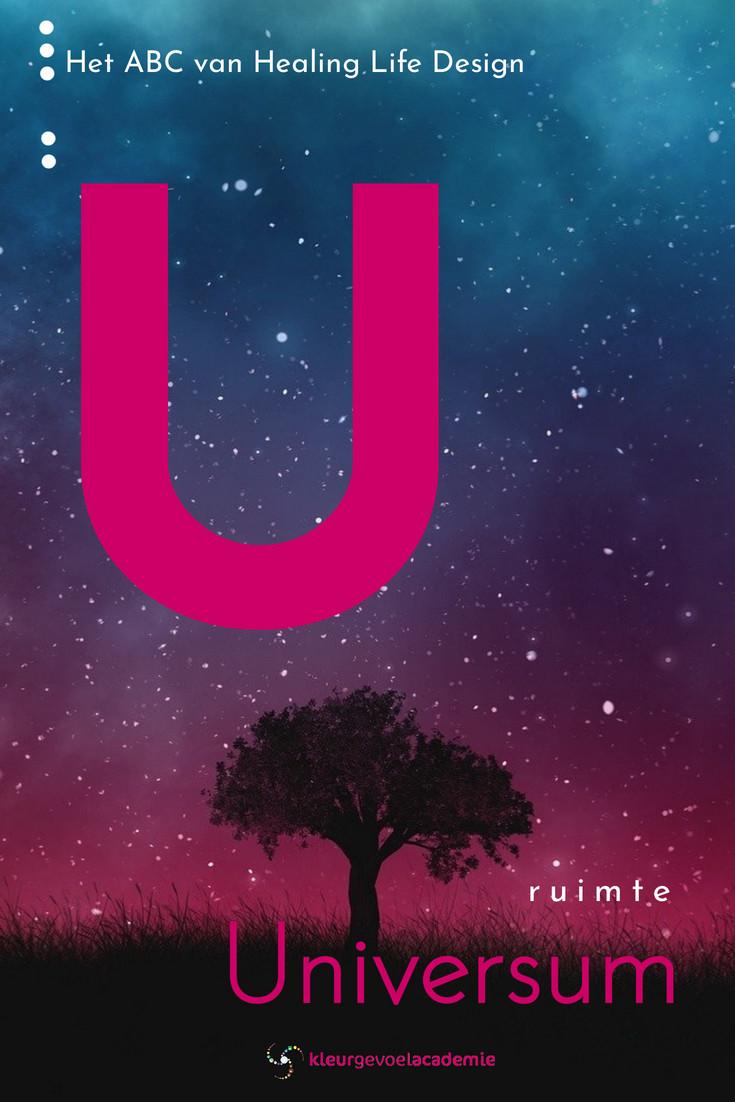 U van universum de ruimte