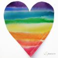 hart met regenboogkleuren aquarel, online cursus voor zelfliefde