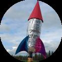 Eenvoudig een waterraket bouwen van een waterfles.