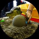 Speciaal voor scholen en bso zandsculptuur workshp